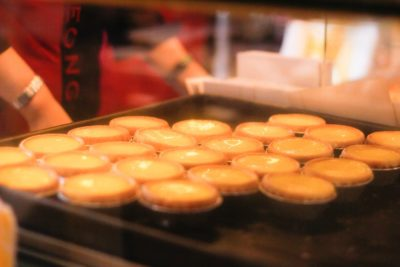 Freshly baked Hong Kong egg tarts image - Hong Kong Travel Guide