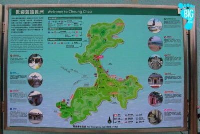 Cheung Chau Map Big Foot Tour Hong Kong
