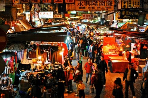 hong kong markets night